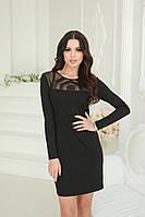 Стильное красивое облегающее платье черное