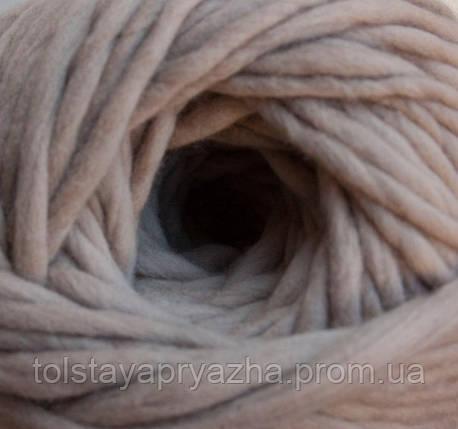 Толстая пряжа меринос 5 мм телесный, фото 2