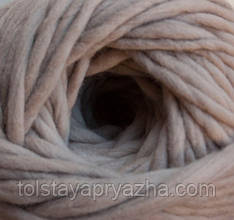 Толстая пряжа меринос 5 мм телесный