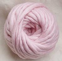 Толстая пряжа меринос 5 мм светло-розовый