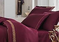 Постельное белье Ecocotton (Сатин с вышивкой) Sehzade bordo