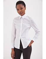 Качественная классическая белая женская рубашка , фото 1