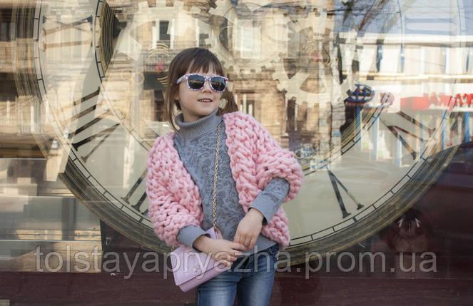 Кардиган из толстой пряжи для девочки, фото 2