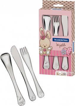 Набір дитячих столових приборівTramontina Baby Le Petit Pink 66973/005 3 предмета
