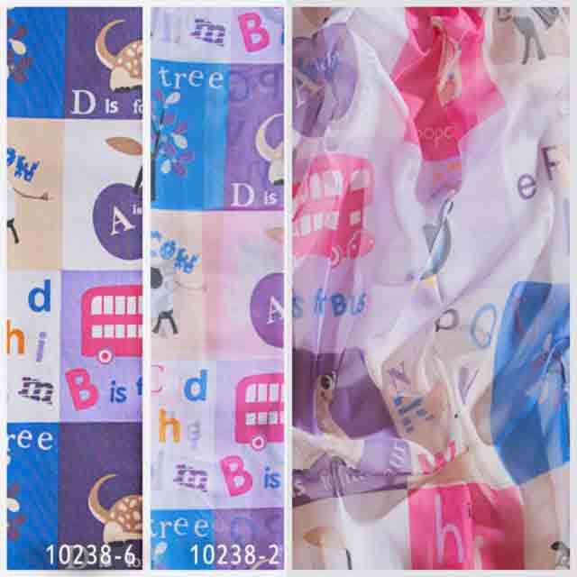 Тюль 10238 w191 для детской, Турция, Фиолетовый