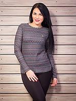 Элегантный свитер с брошью шанель