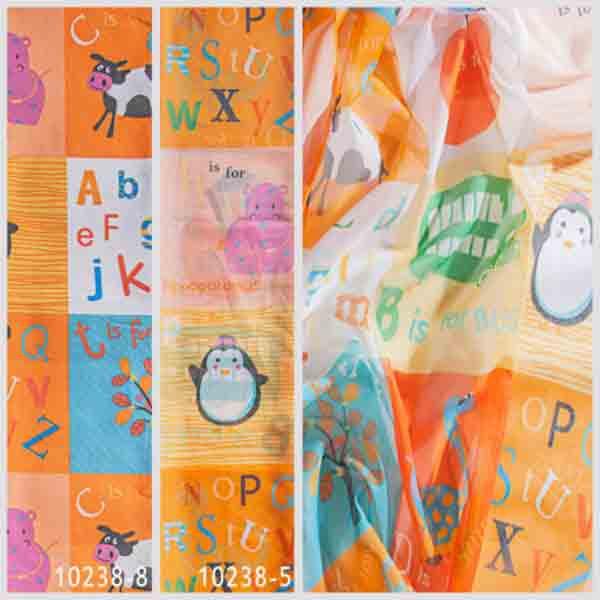 Тюль 10238 w191 для детской, Турция, Оранжевый