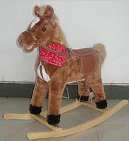 Детская лошадка качалка BT001B музыкальная