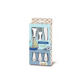 Набір дитячих столових приборів Tramontina Baby Le Petit blue 66973/000 3 предмета
