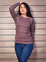Оригинальный свитер с замочками и блочками