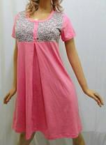 Туника для дома, ночная рубашка, сорочка женская на пуговицах, фото 2