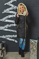 Куртка женская зимняя с молнией черное