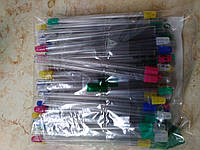 Слюноотсосы (с разноцветными наконечниками)