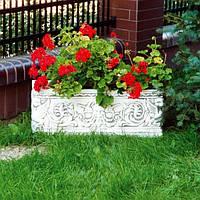 Вазон садовый для цветов «Прямоугольный» бетонный