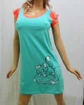 "Туника, ночная рубашка женская ""Кошечка на подушке"" от 38 до 48 р-ра, фото 2"