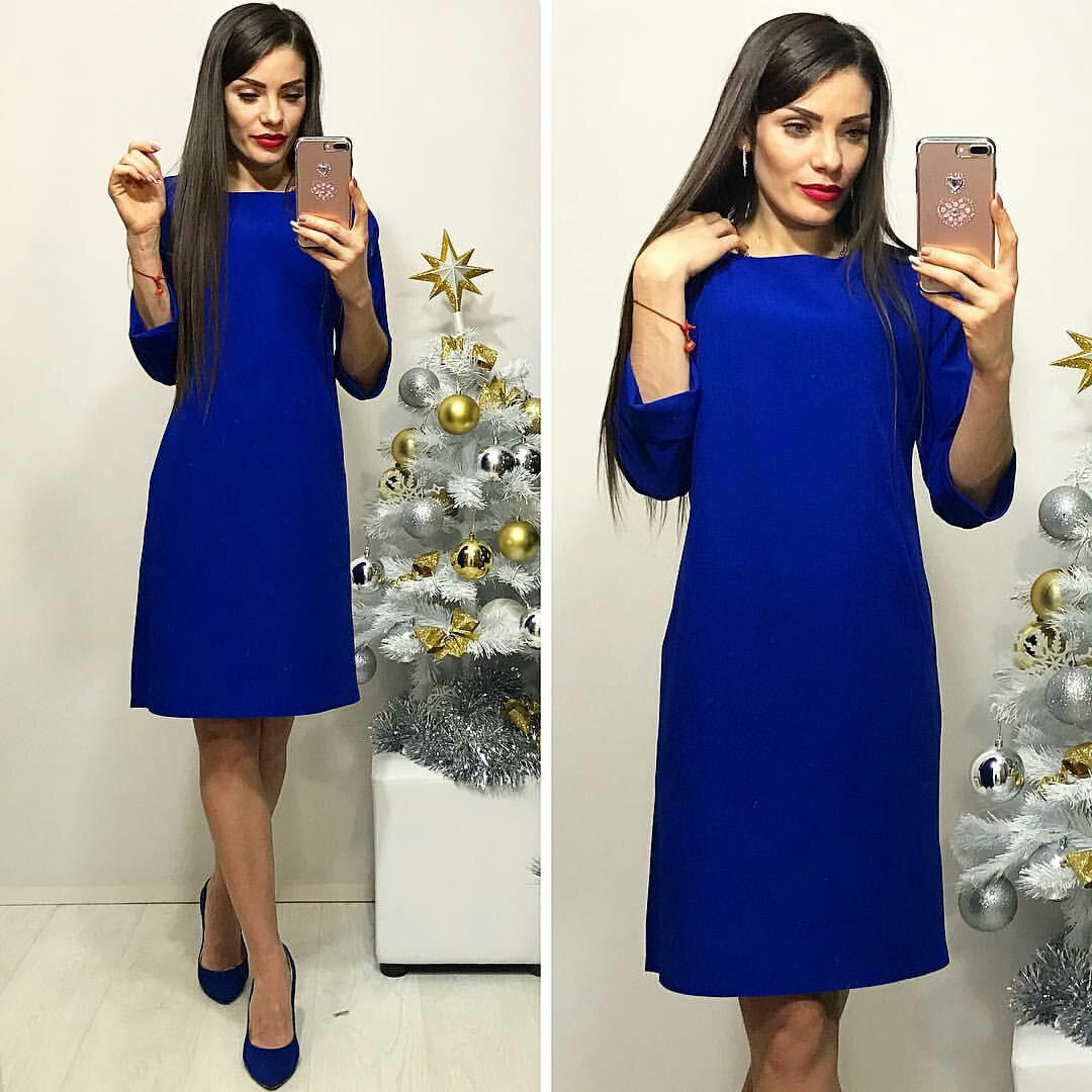 Платье женское, модель 772 , электрик