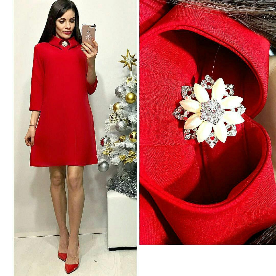 Платье женское, модель 770, красный