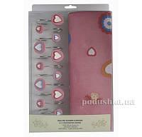 Шторка для ванной Arya Pink Love 180х180 см