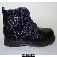 Демисезонные ботинки для девочки 26 размер (16,2 см), кожаная стелька, супинатор,
