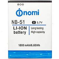 Аккумулятор NOMI NB-51 1800 mAh для i500 Original