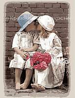 Картины по номерам без упаковки 'Перший поцілунок', 40х50см (КНО1044)