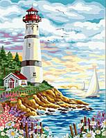 """Картины по номерам без упаковки """"Морской маяк"""", 40х50см (КНО086)"""