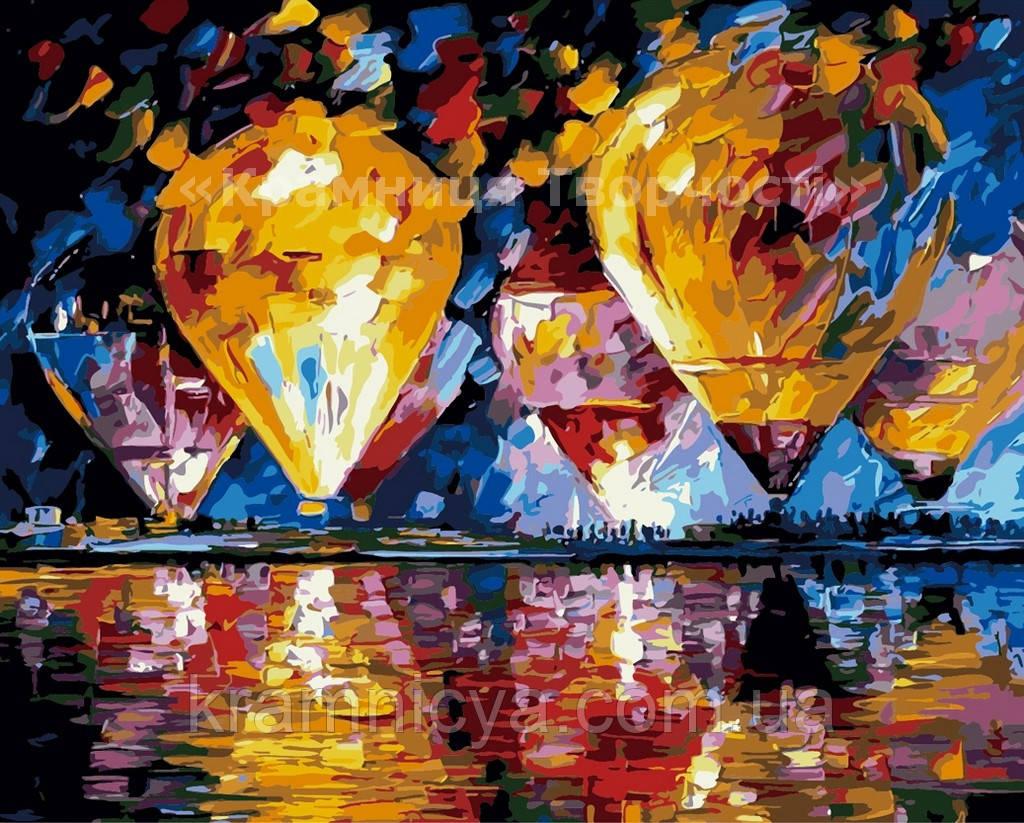 """Картины по номерам без упаковки """"Воздушные шары над затокой"""", 40х50см (КНО1012)"""