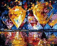 """Картины по номерам без упаковки """"Воздушные шары над затокой"""", 40х50см (КНО1012), фото 1"""