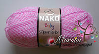 Детская пряжа Super bebe Супер бэби Нако, 21290, розовый твид