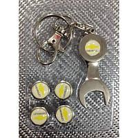 Колпачки на ниппель в блистере (4 шт.+ ключ) CHEVRLLET-W метал
