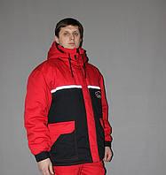 Куртка рабочая зимняя удлиненная с капюшоном