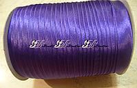 Косая бейка атлас № 35 фиолетовый