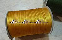 Косая бейка атлас темно-желтый (старое золото)