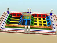 Батутная арена с поролоновой ямой