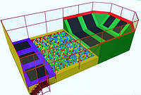 Батутный комплекс с поролоновой ямой