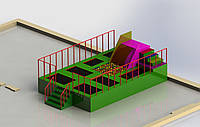 Батутный комплекс с поролоновой ямой , фото 1