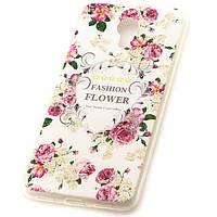 Чехол силиконовый White Flowers для Meizu M3 Note