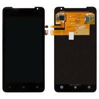 Дисплей для мобильного телефона HTC J Z321e , черный, с сенсорным экраном
