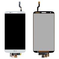 Дисплей для мобильных телефонов LG G2 D802, G2 D805, белый, с сенсорны