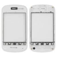 Передняя панель корпуса для мобильного телефона Fly IQ235, original, белая, #310100669