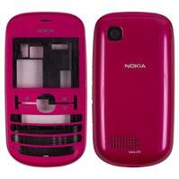 Корпус для мобильного телефона Nokia 201 Asha, High Copy, розовый