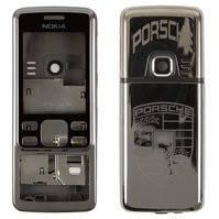 Корпус для мобильного телефона Nokia 6300, high-copy, белый, серый, с орнаментом