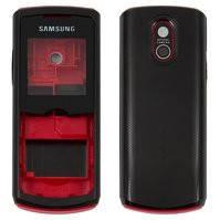 Корпус для мобильных телефонов Samsung E2120, E2121, high-copy, красный