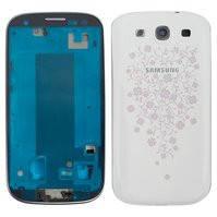 Корпус для мобильного телефона Samsung I9300 Galaxy S3, белый, с орнаментом