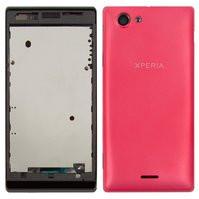 Корпус для мобильного телефона Sony ST26i Xperia J, розовый
