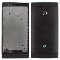 Корпус для мобильного телефона Sony LT22i Xperia P, черный
