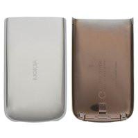 Задняя крышка батареи для мобильного телефона Nokia 6700c, серебристая