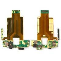 Шлейф для мобильного телефона HTC T8282 Touch HD, коннектора наушников, боковых клавиш, камеры, кнопки включения, с компонентами