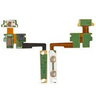 Шлейф для мобильного телефона LG KM900, кнопок звука, с компонентами, с камерой