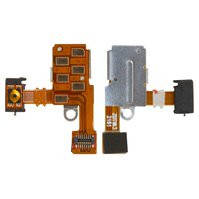 Шлейф для мобильного телефона Sony ST27i Xperia Go , коннектора наушников, кнопки включения, с компонентами